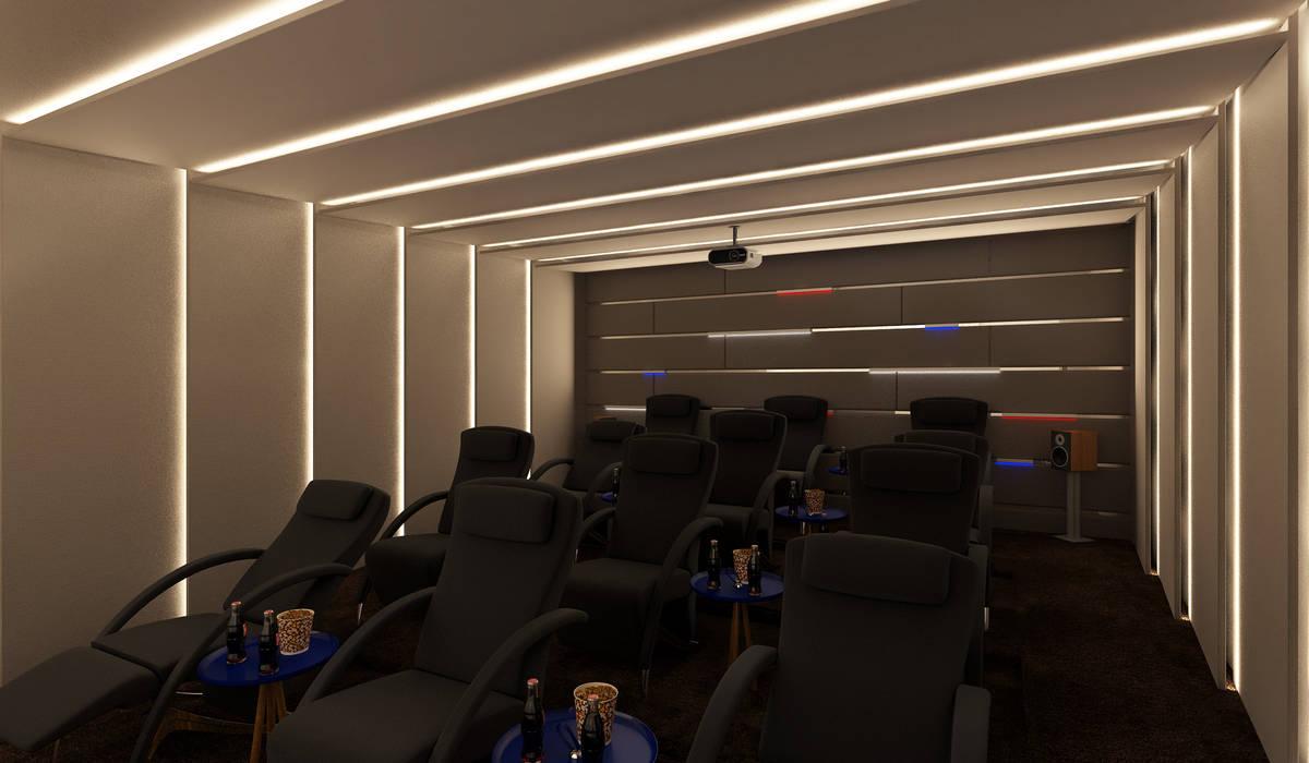 Mimayris Proje ve Yapı Ltd. Şti. – Sinema Salonu: modern tarz , Modern