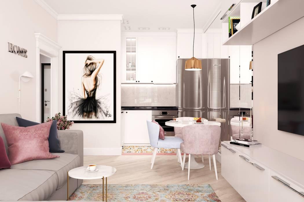 Однокомнатная квартира Жк Легенда Кухня в классическом стиле от Дизайн Студия Katushhha Классический