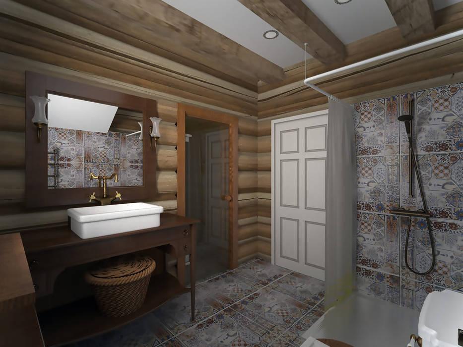 Первым делом самолеты Ванная комната в стиле кантри от студия Виталии Романовской Кантри