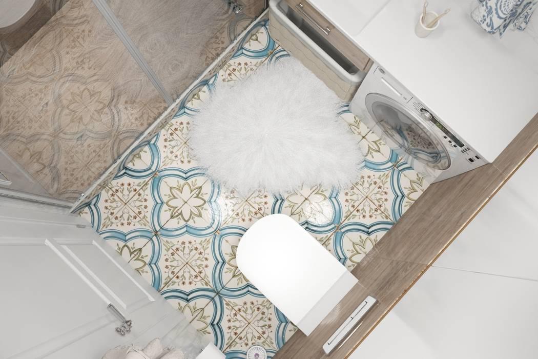 Квартира Жк. Светлый мир Ванная комната в стиле кантри от Дизайн Студия Katushhha Кантри