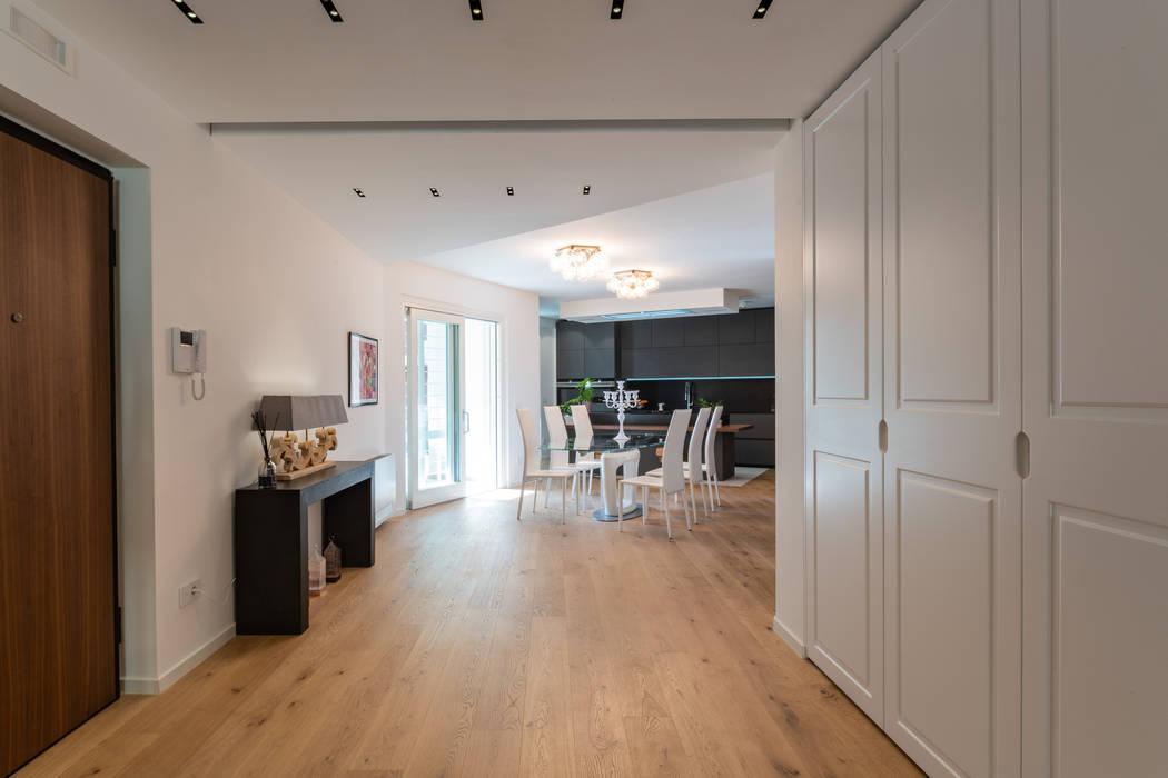 Casa Caserta: Soggiorno in stile  di ZETAE Studio, Moderno