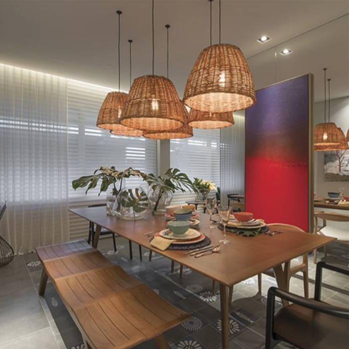 CASA COR ITAPEMA 2018 - Cozinha de Estar Salas de jantar modernas por Spengler Decor Moderno