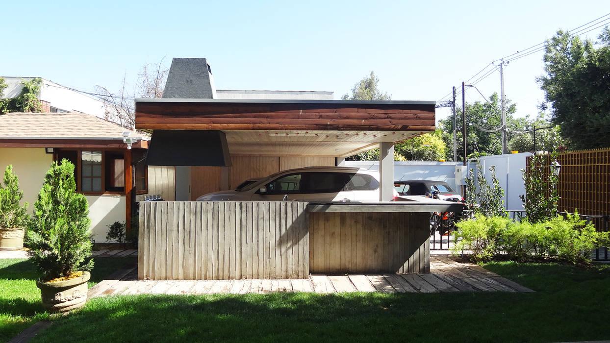 Quincho Hannover, La Reina: Casas de estilo  por m2 estudio arquitectos - Santiago