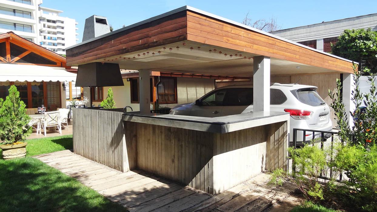Quincho Hannover, La Reina Garajes de estilo minimalista de m2 estudio arquitectos - Santiago Minimalista