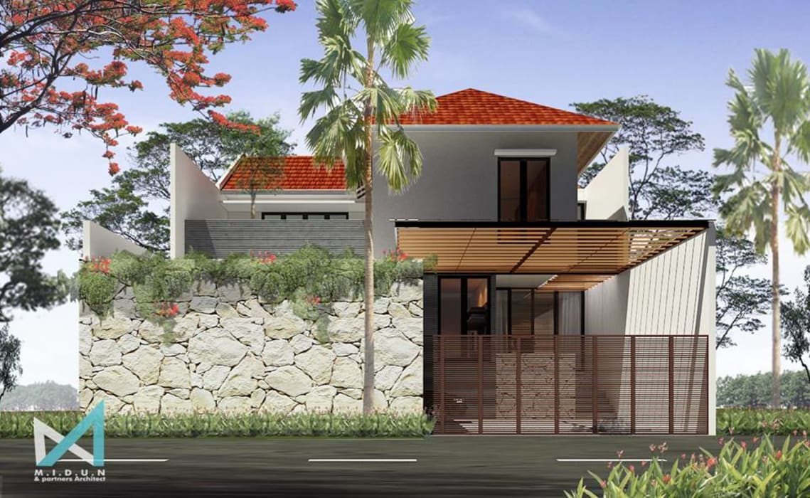 RK HOUSE Rumah Tropis Oleh midun and partners architect Tropis
