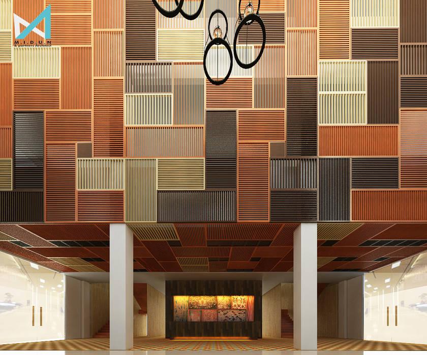 Pasillos y vestíbulos de estilo  por midun and partners architect, Tropical