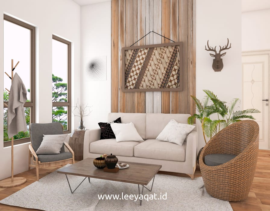 Ruang Keluarga: Ruang Keluarga oleh PT. Leeyaqat Karya Pratama, Rustic