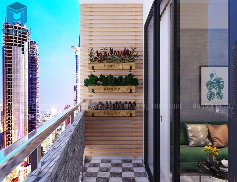ban công Hiên, sân thượng phong cách hiện đại bởi Công ty TNHH Nội Thất Mạnh Hệ Hiện đại