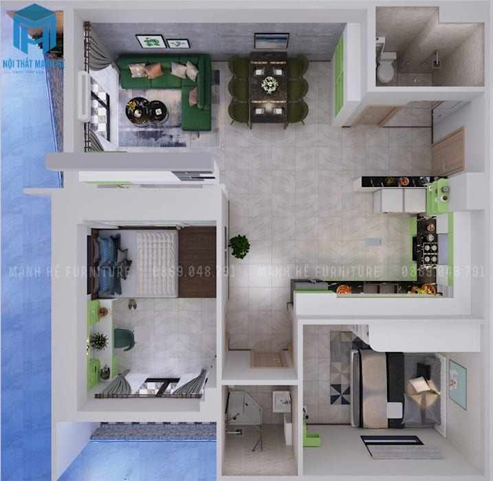 bản vẽ:  Nhà cho nhiều gia đình by Công ty TNHH Nội Thất Mạnh Hệ