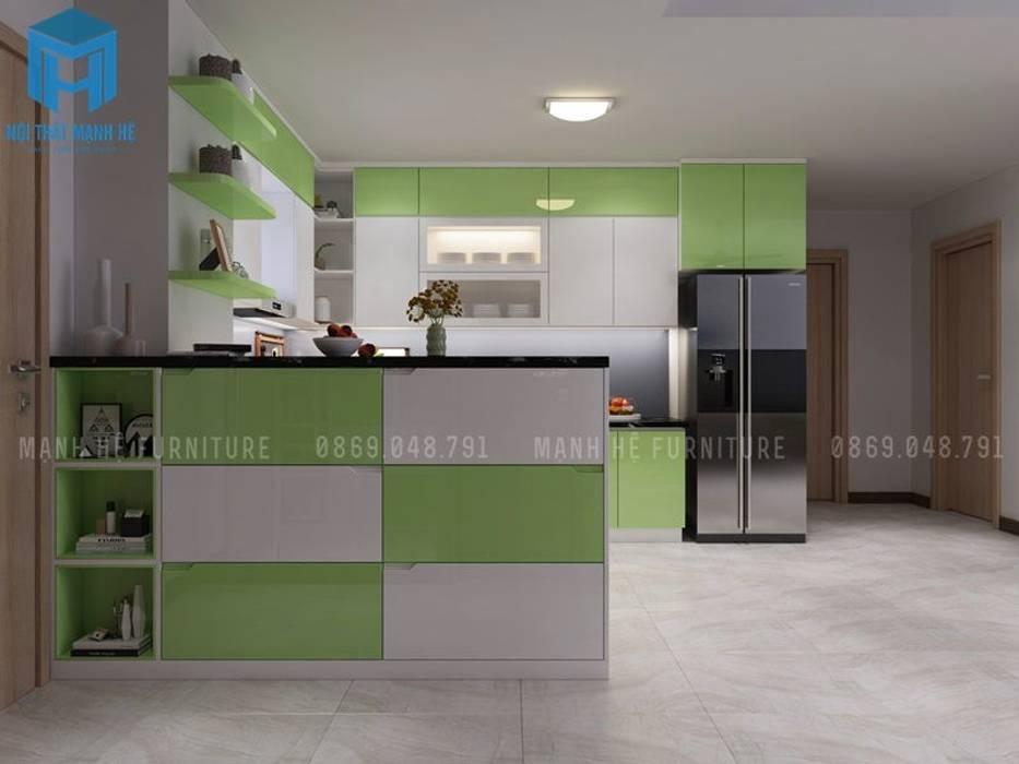 bếp ăn và tủ giày bởi Công ty TNHH Nội Thất Mạnh Hệ Hiện đại MDF