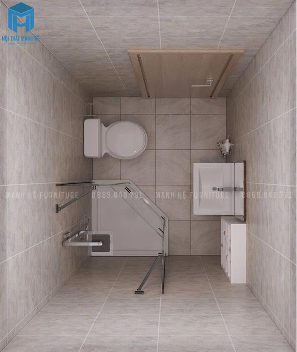 toilet hiện đại:  Phòng khách by Công ty TNHH Nội Thất Mạnh Hệ
