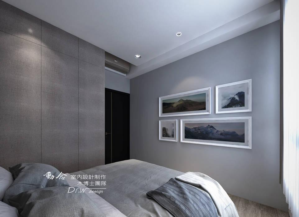次臥:  臥室 by 木博士團隊/動念室內設計制作
