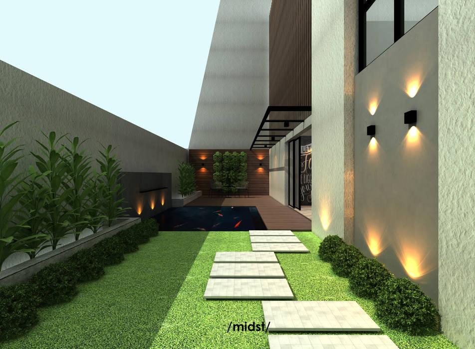 Terrace : Teras oleh M I D S T Interiors ,
