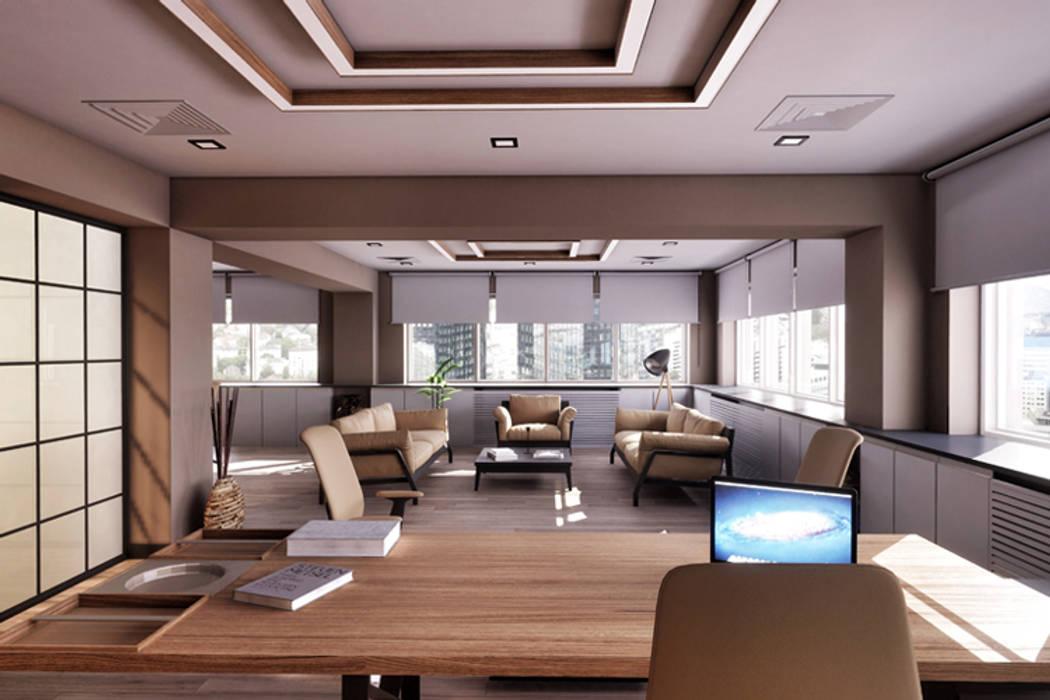 INVENT YAPI TASARIM – İç Mekan Ofis Tasarımımız:  tarz Küçük Evler