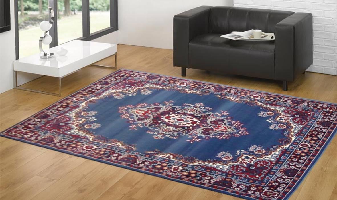 Tappeto PERSIAN-6210-LIGHT-BLUE: Ingresso, Corridoio & Scale in stile  di Webtappeti