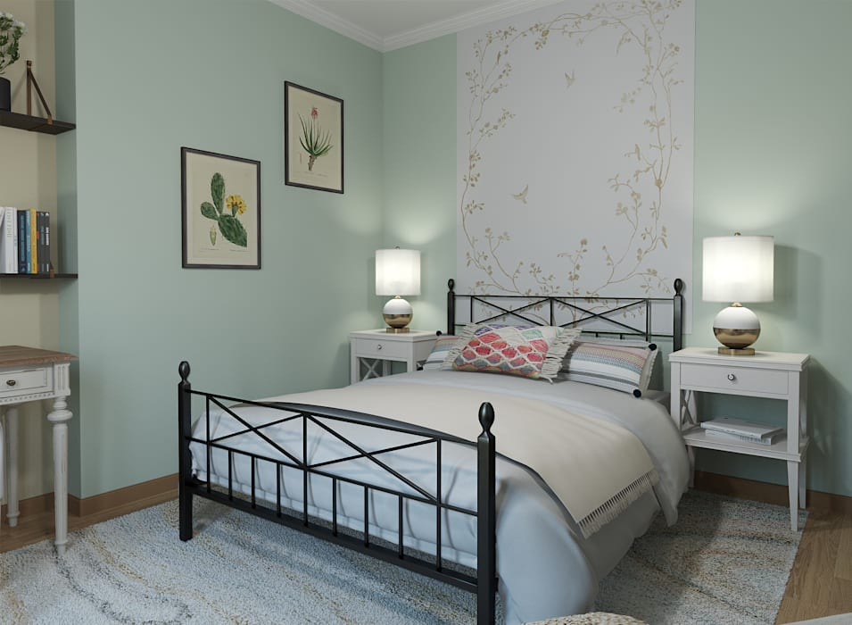 Dormitorio: Dormitorios de estilo  de Glancing Eye