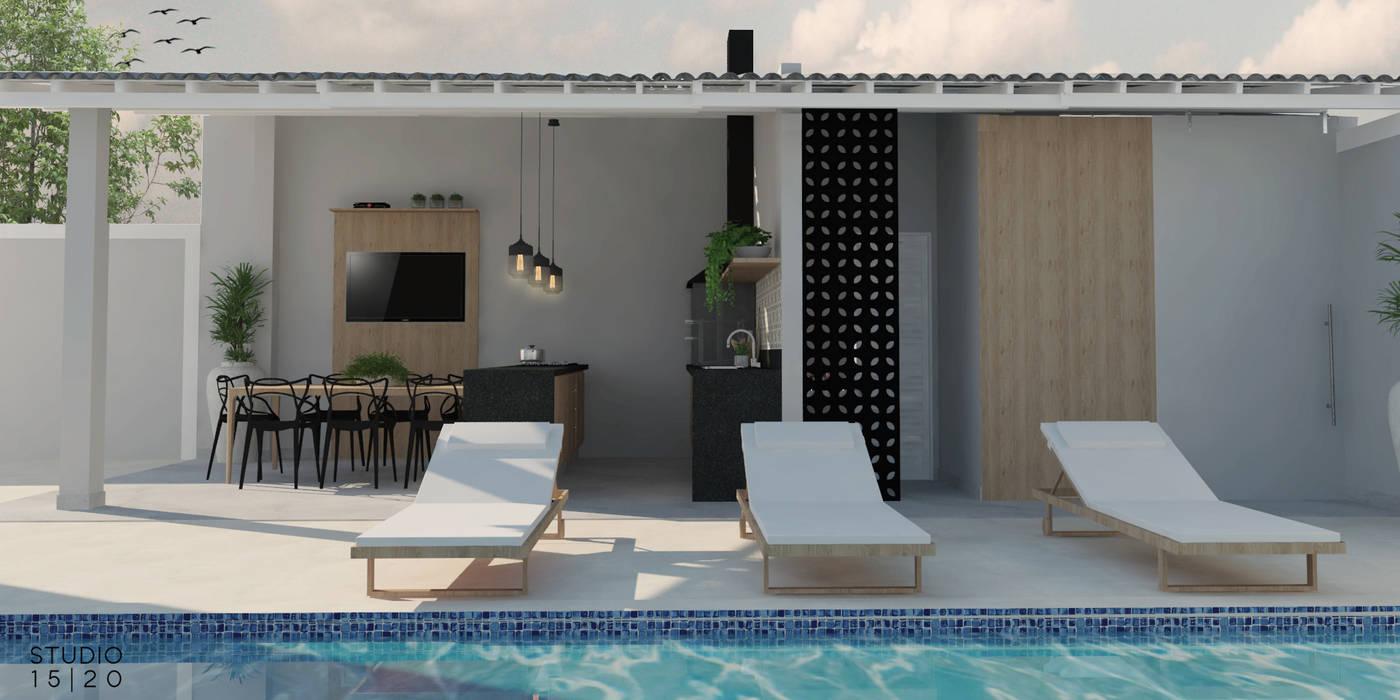 Balcón de estilo  por Studio 15 20 Arquitetura, Moderno