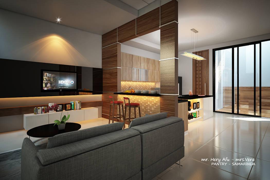 AFU HOUSE: Ruang Makan oleh midun and partners architect,