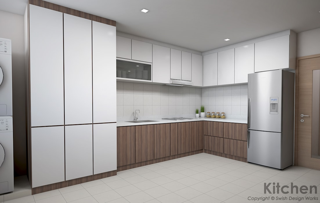 Serangoon Central Modern kitchen by Swish Design Works Modern