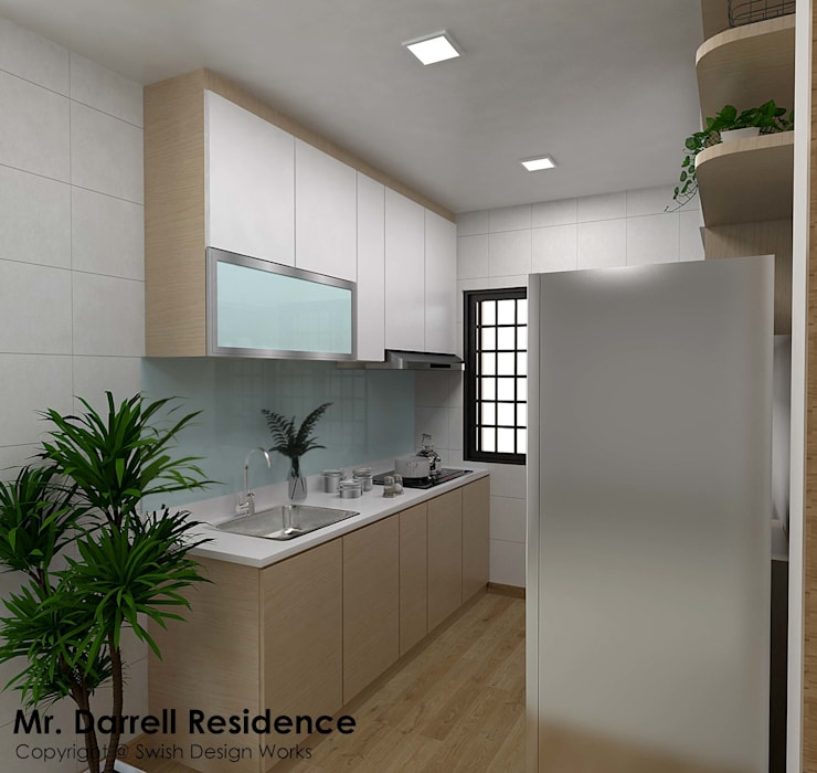 Buangkok Crescent:  Built-in kitchens by Swish Design Works,