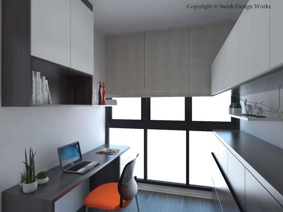 Study/ Guest room by Swish Design Works Scandinavian