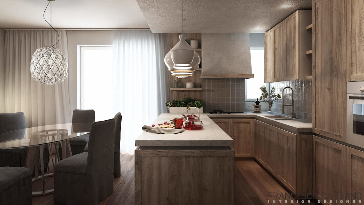 ELENA APARTMENT: Cucina in stile  di FRANCESCO CARDANO Interior designer