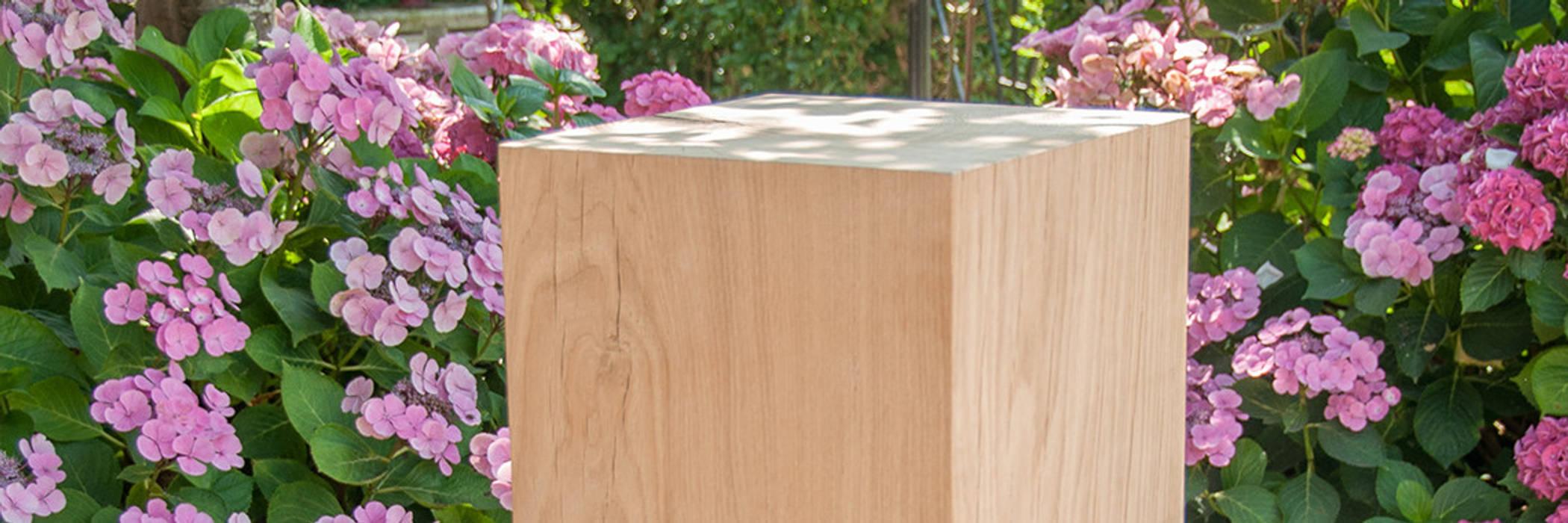 Sokkel eikenhout massief: modern  door sokkel en zuilen, Modern Hout Hout