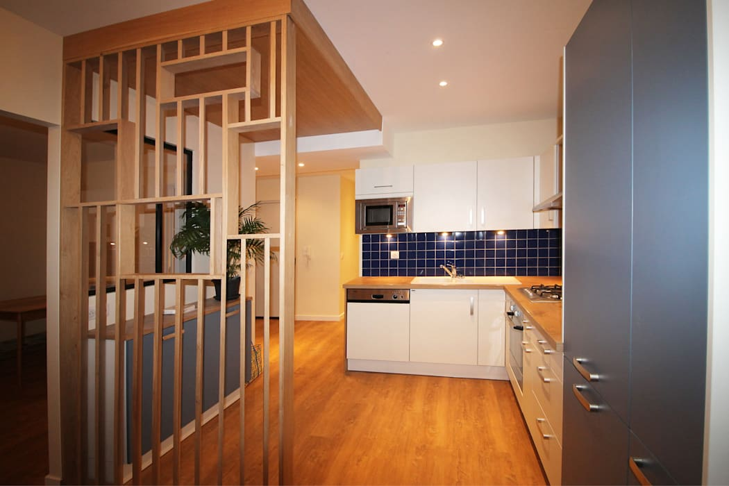 Agence ADI-HOME Dapur Modern Kayu Wood effect