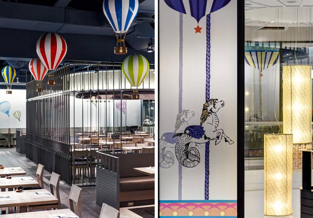 饗食天堂高雄店 根據 伊歐室內裝修設計有限公司 隨意取材風
