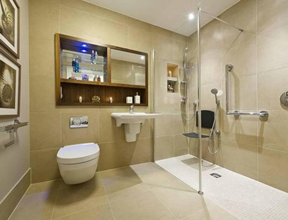 Renovação interior de moradia: Casas de banho  por MP Construction Management