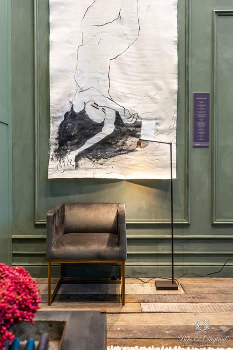 Fresco kalkverf in de kleur Moonstone:  Woonkamer door Pure & Original