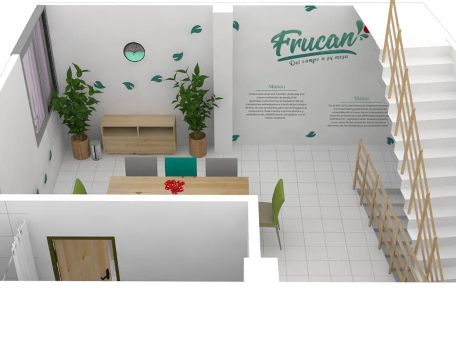 Sala de juntas FRUCAN: Oficinas y Tiendas de estilo  por Decó ambientes a la medida,