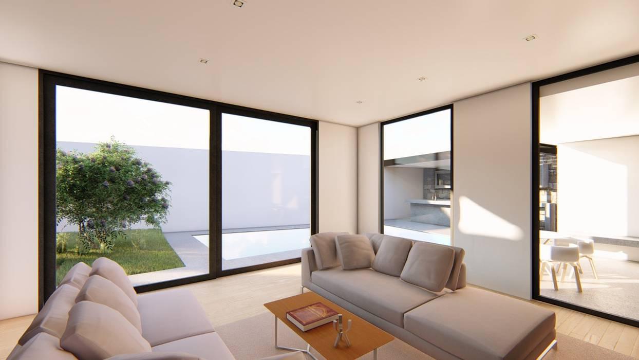LIVINGROOM Livings de estilo moderno de GRUPO VOLTA Moderno