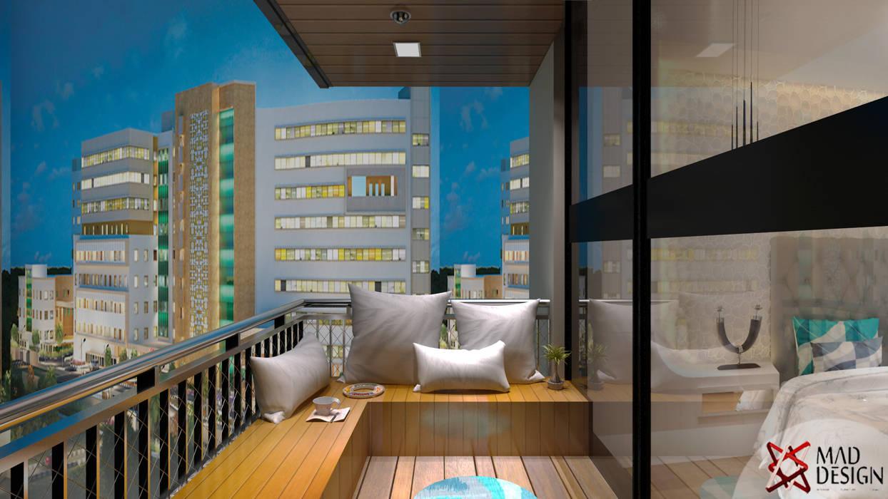 Balcón de estilo  por MAD Design, Escandinavo