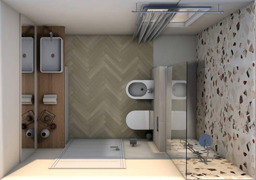 Bagno Moderno Con Pavimento Effetto Legno.Bagno Moderno Con Pavimento In Legno Bagno In Stile Di