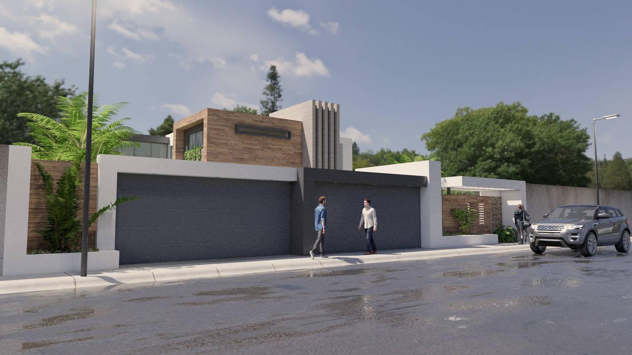URBAO Arquitectos Detached home Concrete Wood effect