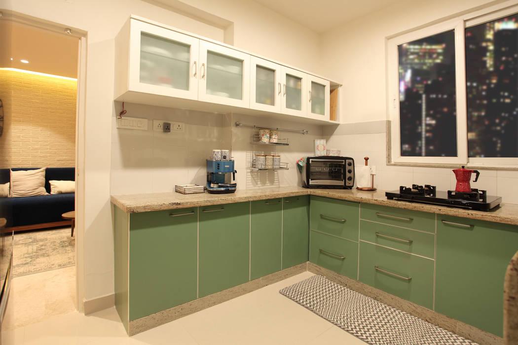 Kitchen:  Small kitchens by Saloni Narayankar Interiors,Rustic