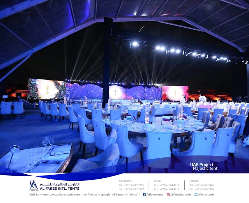 Event venues by AL FARES INTERNATIONAL TENTS ,