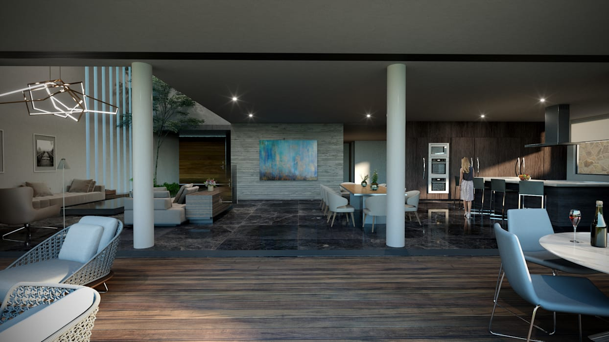 Modern style balcony, porch & terrace by HAC Arquitectura Modern