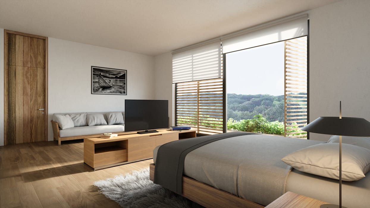 Modern style bedroom by HAC Arquitectura Modern