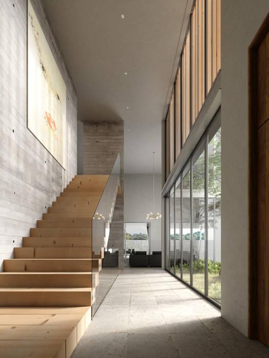 Vestibulo de HAC Arquitectura Moderno