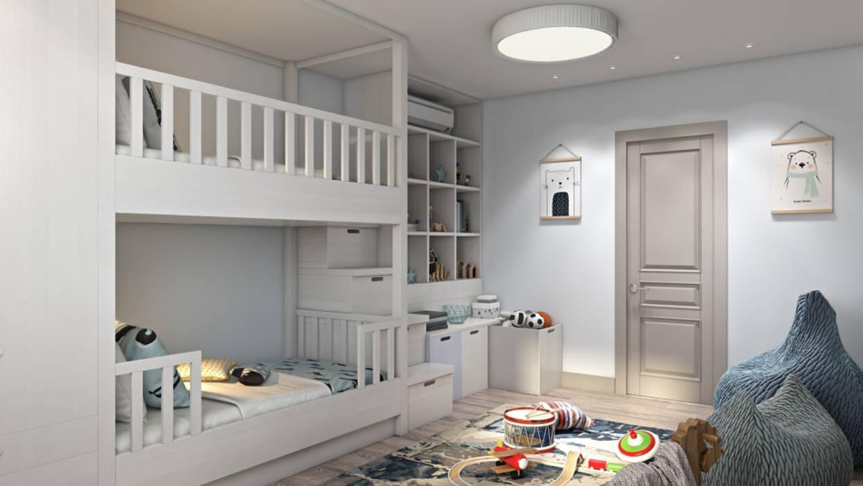 غرفة الاطفال تنفيذ Дизайн студия Алёны Чекалиной, كلاسيكي