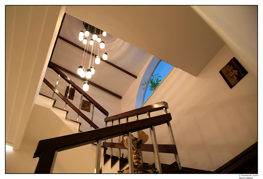 Steps and the customised chandelier by connect3 Classic