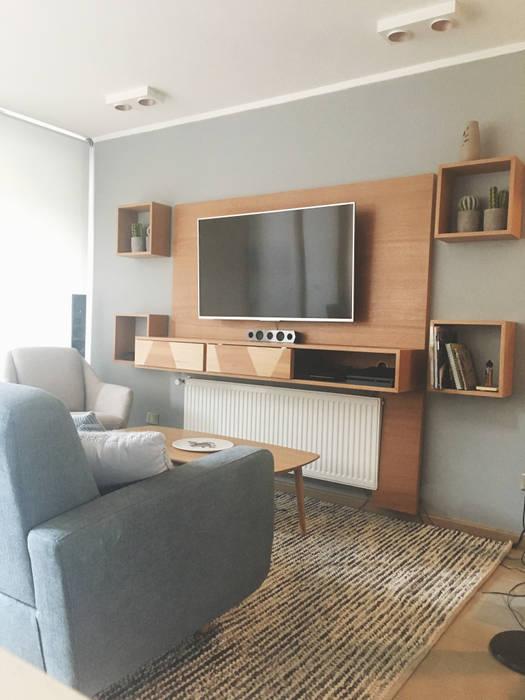 Living - Despues : Livings de estilo  por MM Design, Escandinavo