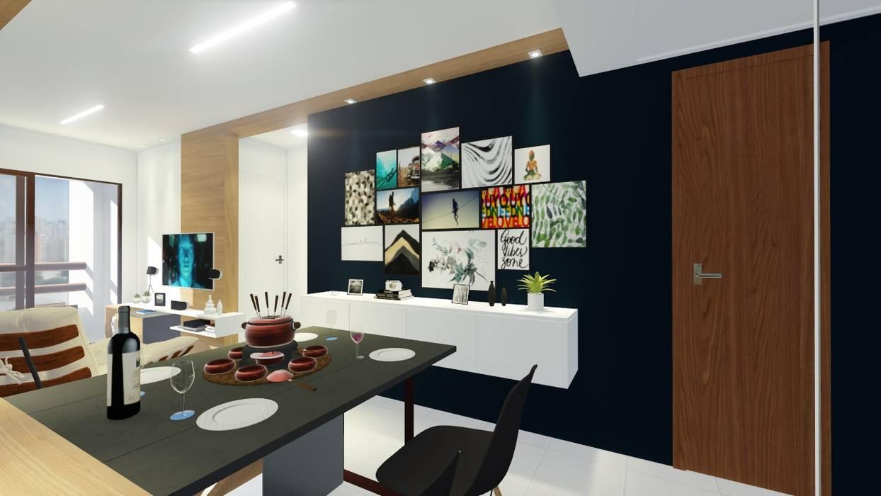 Salle à manger moderne par Sônia Beltrão Arquitetura Moderne MDF