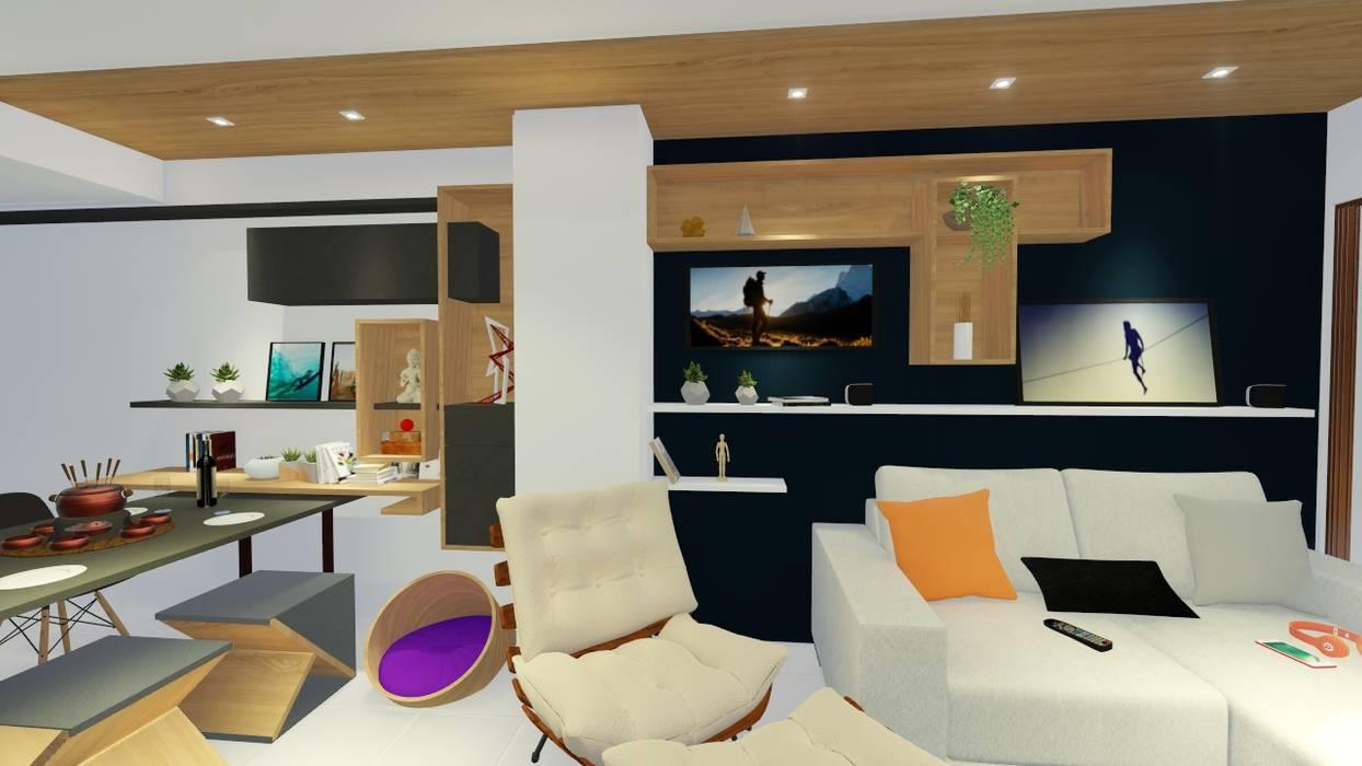 Salas de estilo moderno de Sônia Beltrão Arquitetura Moderno Madera Acabado en madera