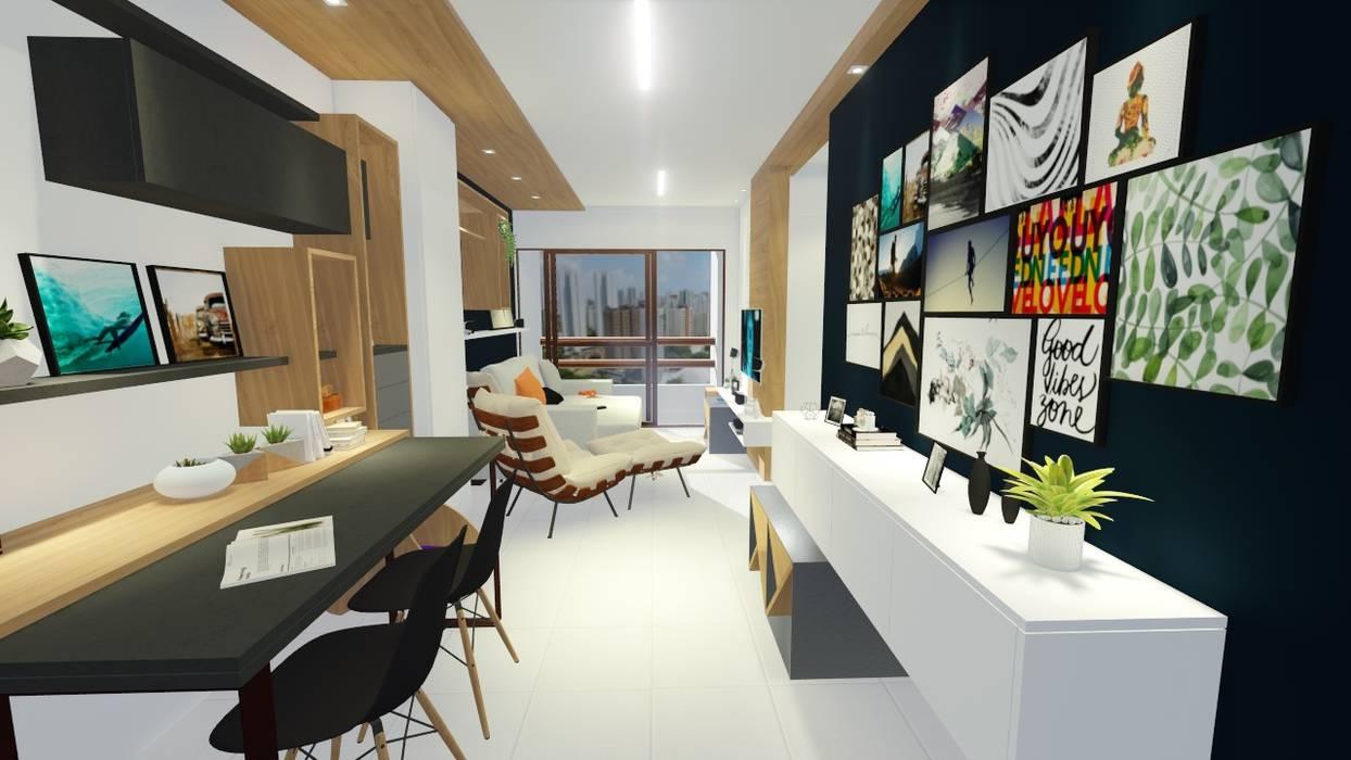 Salas de estilo moderno de Sônia Beltrão Arquitetura Moderno Tablero DM