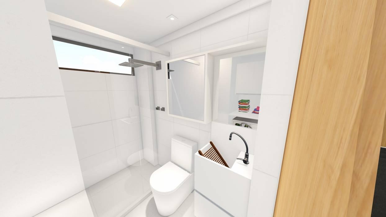 Phòng tắm theo Sônia Beltrão Arquitetura , Tối giản