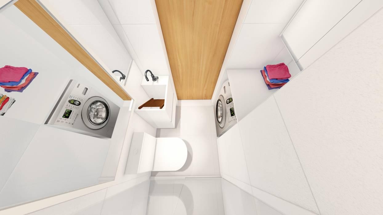 Banheiro/ Lavanderia/ Armário Banheiros modernos por Arquitetura Sônia Beltrão & associados Moderno