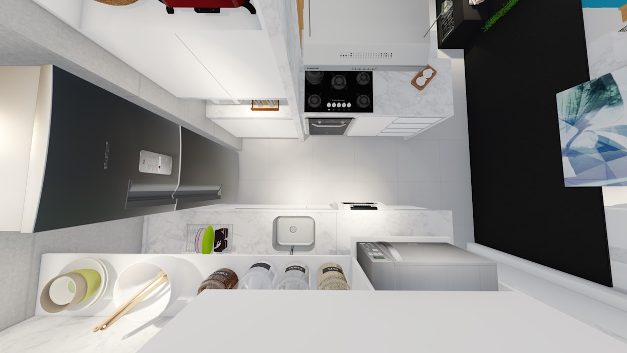 Small kitchens by Sônia Beltrão Arquitetura , Modern MDF